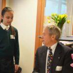 Gr. 6 student with Mr. Bateman