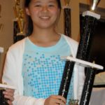 Alice with her 2nd place trophy