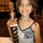 Pepi with her 4th Place trophy