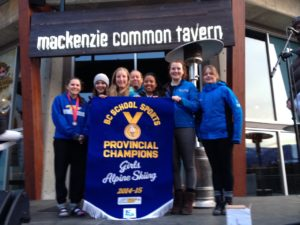 Tigers win another ski title. Apline Provincials, March 2015.
