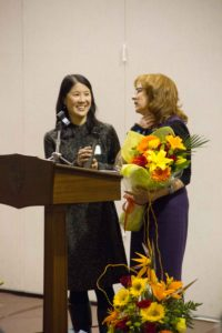 New Parents' Committee Chair, Joanne Lee-Young, and Executive Director, Advancement, Laura Edwards